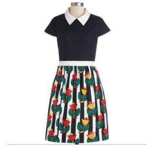 Modcloth Bookstore Browsing Bea & Dot Tulip Dress